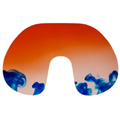 Simulate Weather Fronts Smoke Blue Orange Travel Neck Pillows by Mariart