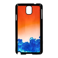 Simulate Weather Fronts Smoke Blue Orange Samsung Galaxy Note 3 Neo Hardshell Case (black) by Mariart