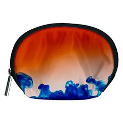 Simulate Weather Fronts Smoke Blue Orange Accessory Pouches (medium)  by Mariart