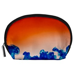 Simulate Weather Fronts Smoke Blue Orange Accessory Pouches (large)
