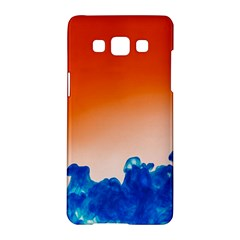 Simulate Weather Fronts Smoke Blue Orange Samsung Galaxy A5 Hardshell Case  by Mariart