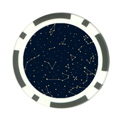 Star Zodiak Space Circle Sky Line Light Blue Yellow Poker Chip Card Guard by Mariart