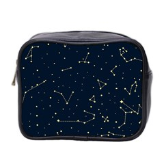 Star Zodiak Space Circle Sky Line Light Blue Yellow Mini Toiletries Bag 2 Side by Mariart