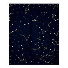 Star Zodiak Space Circle Sky Line Light Blue Yellow Shower Curtain 60  X 72  (medium)  by Mariart