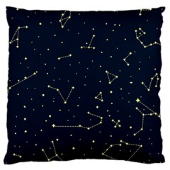 Star Zodiak Space Circle Sky Line Light Blue Yellow Large Cushion Case (one Side) by Mariart