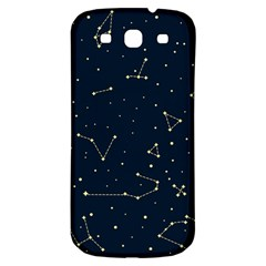 Star Zodiak Space Circle Sky Line Light Blue Yellow Samsung Galaxy S3 S Iii Classic Hardshell Back Case by Mariart