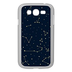 Star Zodiak Space Circle Sky Line Light Blue Yellow Samsung Galaxy Grand Duos I9082 Case (white) by Mariart