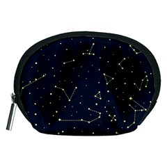 Star Zodiak Space Circle Sky Line Light Blue Yellow Accessory Pouches (medium)  by Mariart