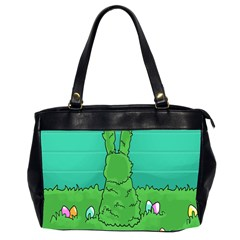 Rabbit Easter Green Blue Egg Office Handbags (2 Sides)  by Mariart