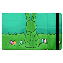 Rabbit Easter Green Blue Egg Apple Ipad 2 Flip Case by Mariart