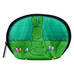 Rabbit Easter Green Blue Egg Accessory Pouches (medium)  by Mariart