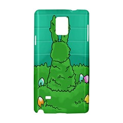 Rabbit Easter Green Blue Egg Samsung Galaxy Note 4 Hardshell Case