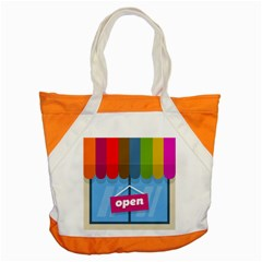 Store Open Color Rainbow Glass Orange Red Blue Brown Green Pink Accent Tote Bag by Mariart
