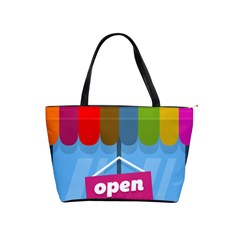 Store Open Color Rainbow Glass Orange Red Blue Brown Green Pink Shoulder Handbags by Mariart