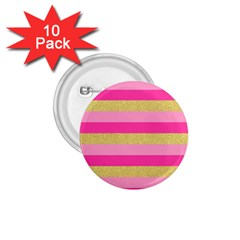Pink Line Gold Red Horizontal 1 75  Buttons (10 Pack)