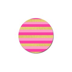 Pink Line Gold Red Horizontal Golf Ball Marker (10 Pack) by Mariart