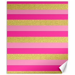 Pink Line Gold Red Horizontal Canvas 20  X 24