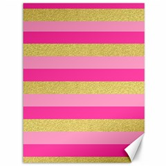 Pink Line Gold Red Horizontal Canvas 36  X 48   by Mariart