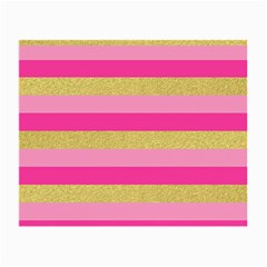 Pink Line Gold Red Horizontal Small Glasses Cloth (2-side) by Mariart
