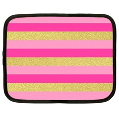 Pink Line Gold Red Horizontal Netbook Case (xl)  by Mariart