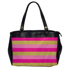 Pink Line Gold Red Horizontal Office Handbags