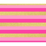 Pink Line Gold Red Horizontal Deluxe Canvas 14  x 11  14  x 11  x 1.5  Stretched Canvas