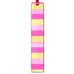 Pink Line Gold Red Horizontal Large Book Marks by Mariart