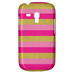 Pink Line Gold Red Horizontal Galaxy S3 Mini by Mariart