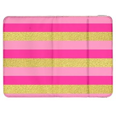 Pink Line Gold Red Horizontal Samsung Galaxy Tab 7  P1000 Flip Case