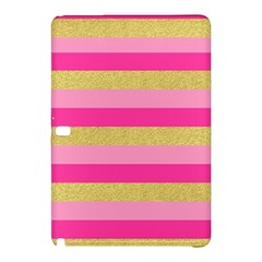 Pink Line Gold Red Horizontal Samsung Galaxy Tab Pro 10 1 Hardshell Case by Mariart
