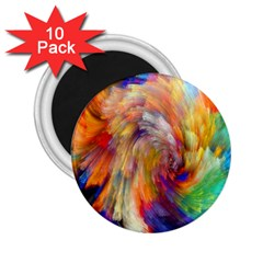 Rainbow Color Splash 2 25  Magnets (10 Pack)  by Mariart