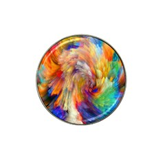 Rainbow Color Splash Hat Clip Ball Marker by Mariart