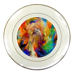 Rainbow Color Splash Porcelain Plates by Mariart
