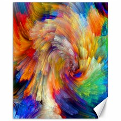 Rainbow Color Splash Canvas 11  X 14   by Mariart