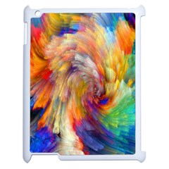 Rainbow Color Splash Apple Ipad 2 Case (white) by Mariart
