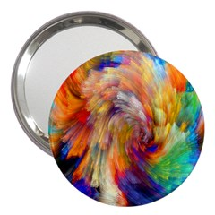Rainbow Color Splash 3  Handbag Mirrors by Mariart