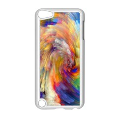 Rainbow Color Splash Apple Ipod Touch 5 Case (white) by Mariart