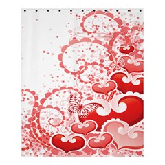 Love Heart Butterfly Pink Leaf Flower Shower Curtain 60  X 72  (medium)  by Mariart