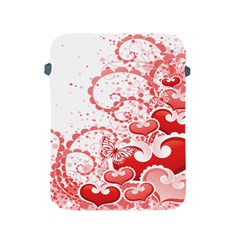 Love Heart Butterfly Pink Leaf Flower Apple Ipad 2/3/4 Protective Soft Cases by Mariart
