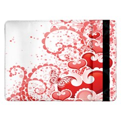 Love Heart Butterfly Pink Leaf Flower Samsung Galaxy Tab Pro 12 2  Flip Case by Mariart