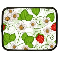 Strawberry Fruit Leaf Flower Floral Star Green Red White Netbook Case (xxl)