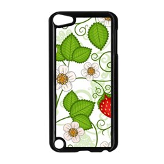 Strawberry Fruit Leaf Flower Floral Star Green Red White Apple Ipod Touch 5 Case (black) by Mariart