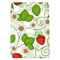 Strawberry Fruit Leaf Flower Floral Star Green Red White Flap Covers (l)  by Mariart