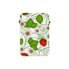 Strawberry Fruit Leaf Flower Floral Star Green Red White Apple Ipad Mini Protective Soft Cases by Mariart