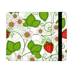 Strawberry Fruit Leaf Flower Floral Star Green Red White Samsung Galaxy Tab Pro 8 4  Flip Case by Mariart