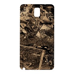 Vintage Newspaper  Samsung Galaxy Note 3 N9005 Hardshell Back Case