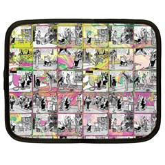 Comic Book  Netbook Case (large) by Valentinaart