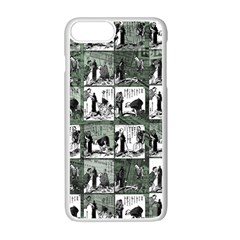 Comic Book  Apple Iphone 7 Plus White Seamless Case by Valentinaart