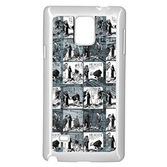 Comic Book  Samsung Galaxy Note 4 Case (white) by Valentinaart