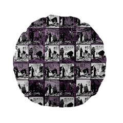 Comic Book  Standard 15  Premium Flano Round Cushions by Valentinaart